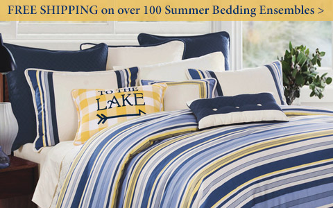 FREE SHIPPING on over 100 Summer Bedding ensembles