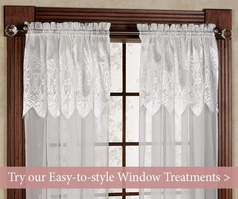 Shop our easy-to-style window treatments