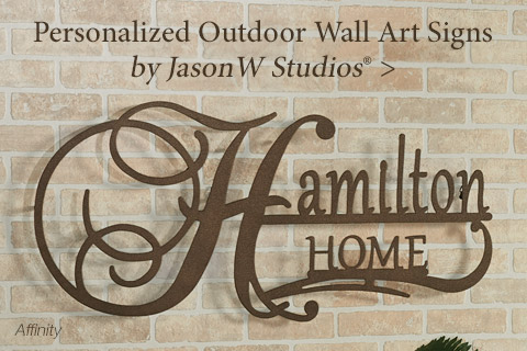 Personalized Indoor/Outdoor Wall Art Signs including Jasonw W Studio designs