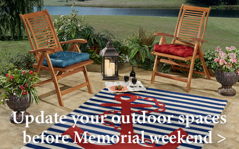 Inspiration for your outdoor spaces just in time for Memorial weekend