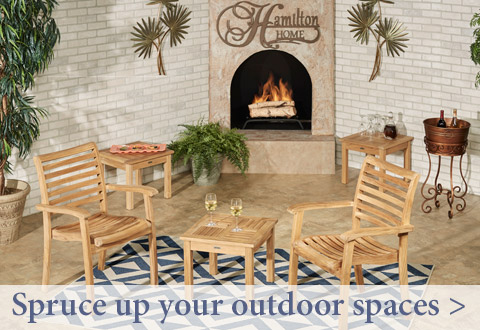 Spruce up outdoor spaces before your July Fourth celebration!