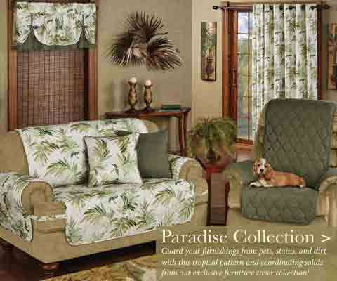 Inexpensive Living Room Update with Furniture Covers