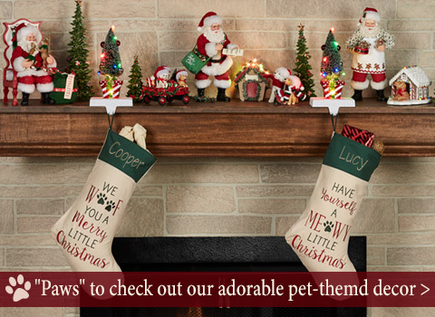 Paws to check out our adorable pet-themed Christmas decor