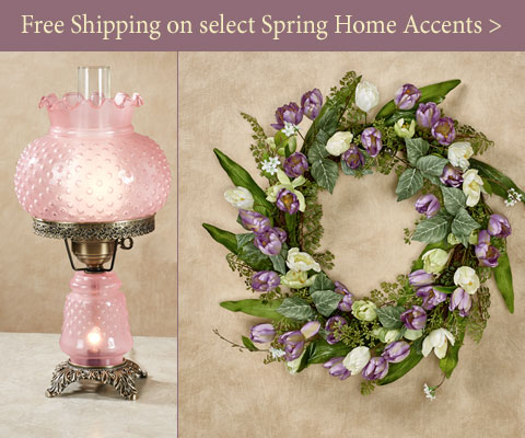 Everyday Free Shipping on select Spring-themed Home Accents