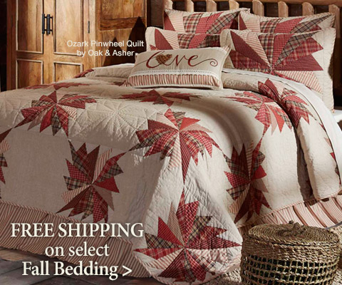 Free Shipping on select Fall-themed Bedding