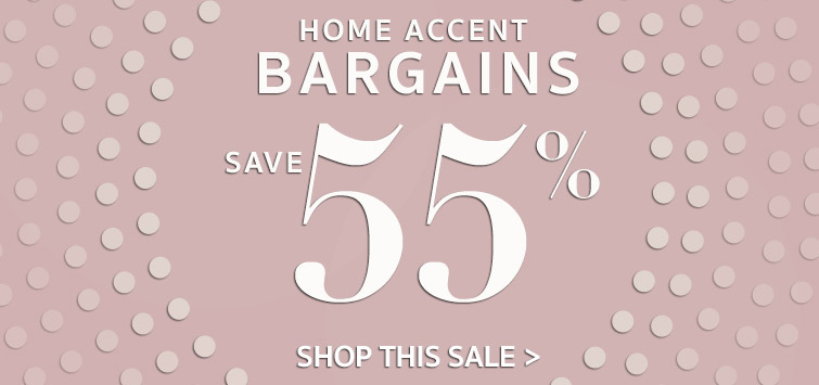 Save 55% or more on on over 400 Home Decor Bargains