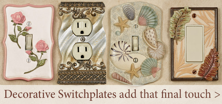 Add that final touch to your room with Decorative Switchplates