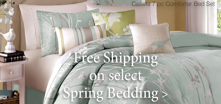 Free Shipping on select Spring Bedding