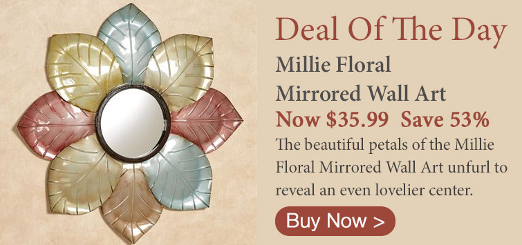 Deal of the Day - Millie Mirrored Floral Wall Art
