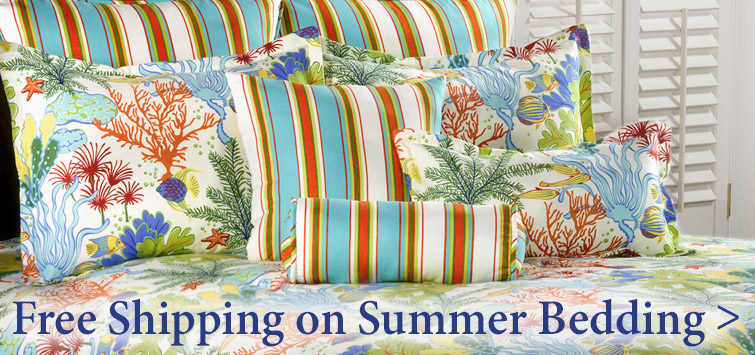 Free Shipping on over 80 Summer bedding ensembles