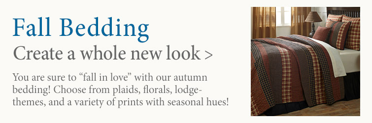 Create a whole new look with Fall Bedding