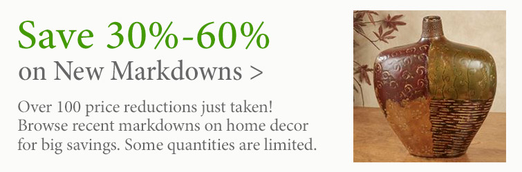 Save 30%-60% on select recently reduced home decor