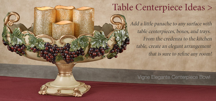 Create a stunning tablescape with centerpieces, boxes, or decorative trays