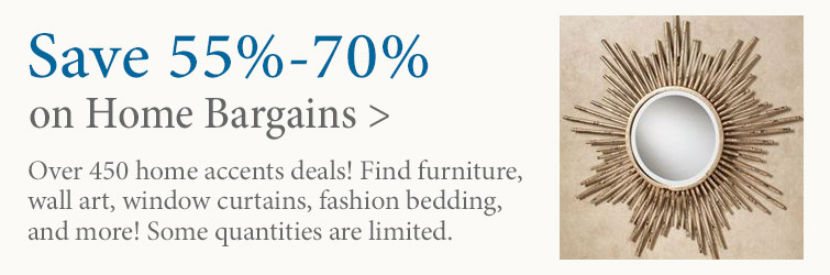 Save 55%-70% on over 450 home decor bargains