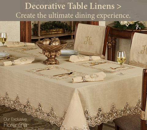 Create the ultimate dining experience with our Decorative Table Linens!