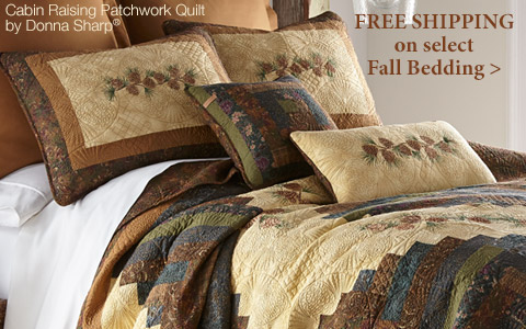 Free Shipping on select Fall-themed bedding >