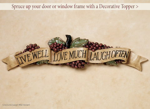 Spruce up your door or window frame with a Decorative Topper! Shop Now >
