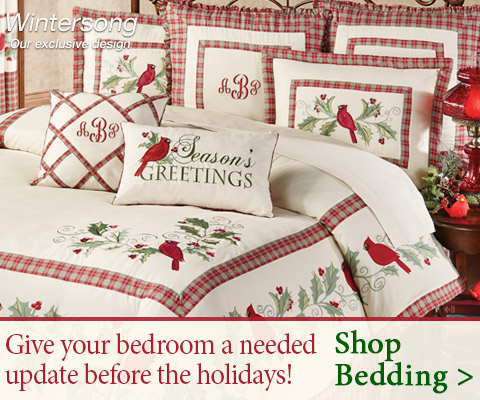 Give your bedroom a needed update before the holidays! Shop our Bedding >