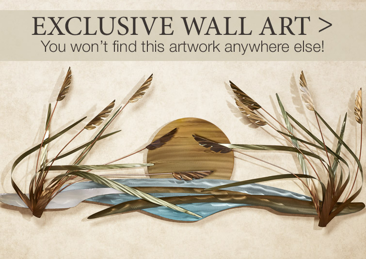 Exclusively designed wall art you won't find anywhere else