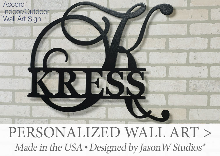 Exclusively designed Personalized Wall Art Signs from JasonW Studios >