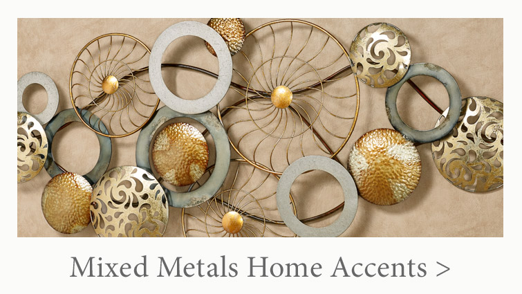 Make a statement with Mixed Metals Home Accents