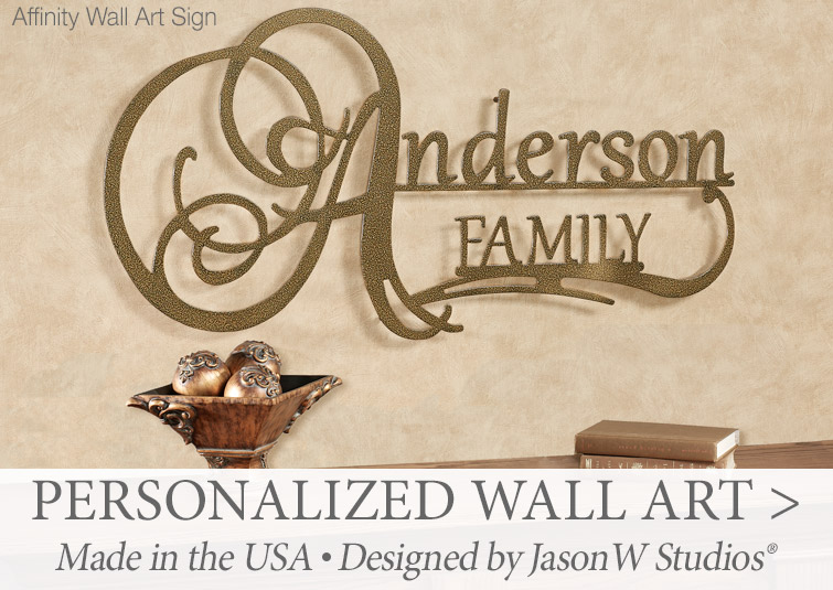 Indoor/Outdoor Personalized Wall Art made in the USA by JasonW Studios >
