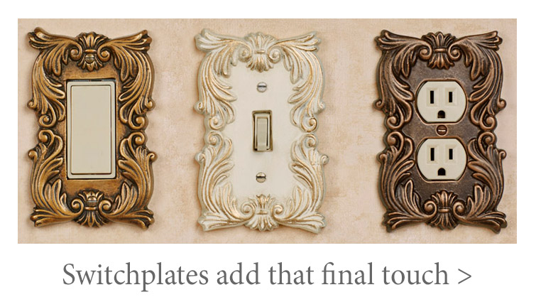 Decorative Switchplates add that finishing touch to any room