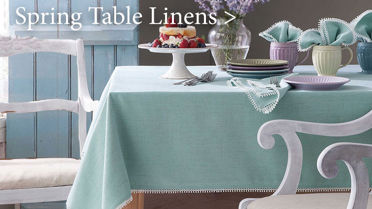 Shop for Spring-themed Table Linens