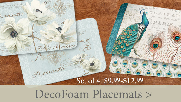 Refresh Your Dining Area With Inexpensive DecoFoam Placemats starting at $9.99