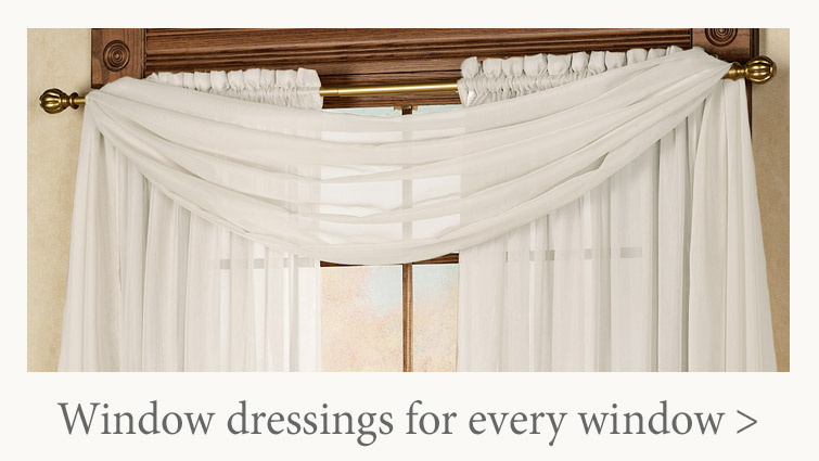 Curtains in long lengths, short lengths, wide widths, valances, and more