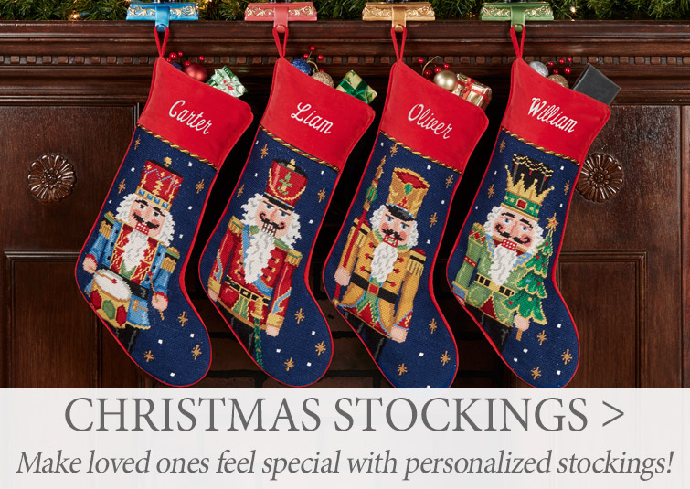 For best selection, order your Personalized Christmas Stockings now >