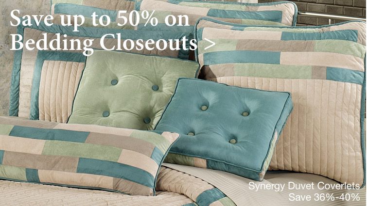 Save up to 50% on Exclusive Closeout Bedding