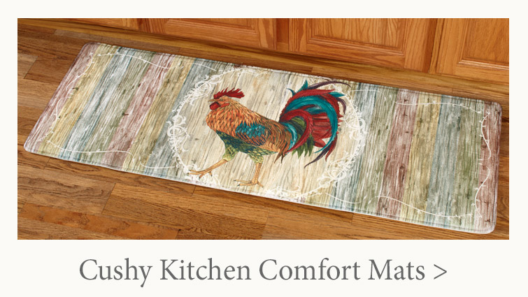 Cushy Comfort Mats are great in front of a stove or sink