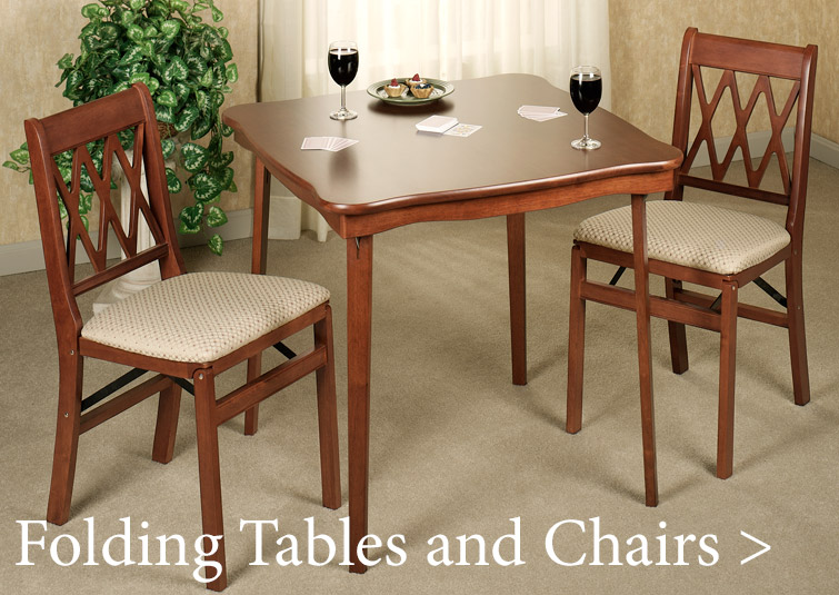 Stakmore Tables and Chairs fold away for easy storage