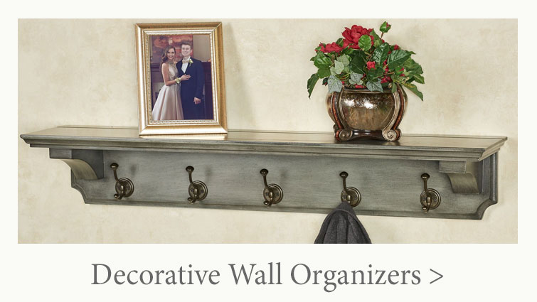 Wall organizers can be decorative as well as functional