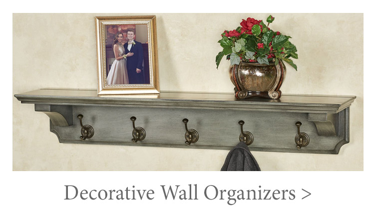 Wall racks and wall hooks provide convenient organization for your jackets, towels, or keys