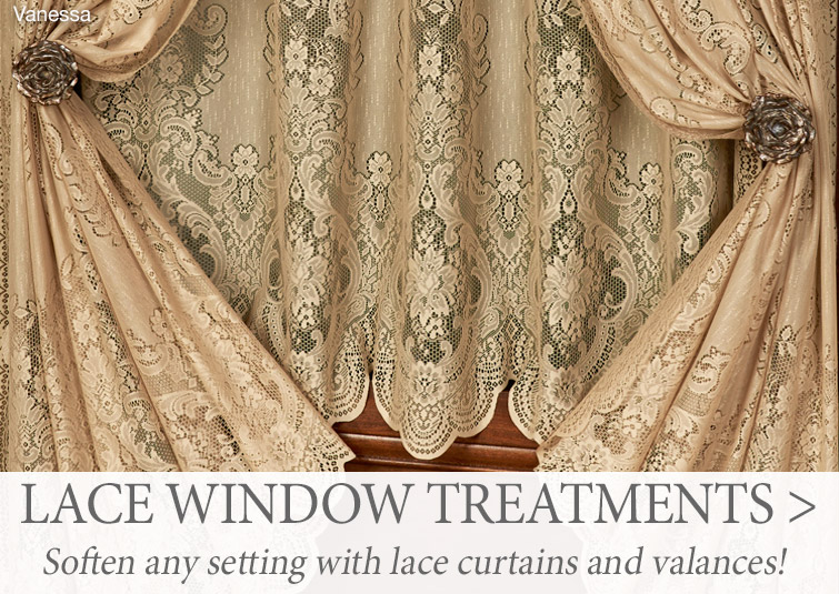 Soften any setting with our Lace Window Treatments >