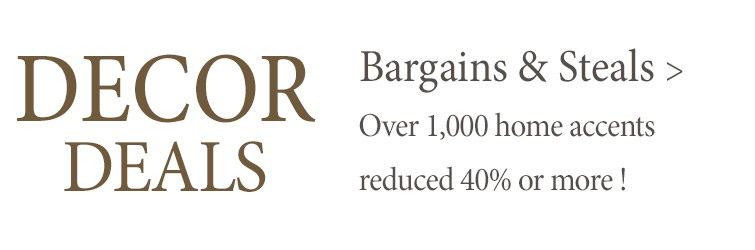 Over 1,000 home accents reduced 40% or more