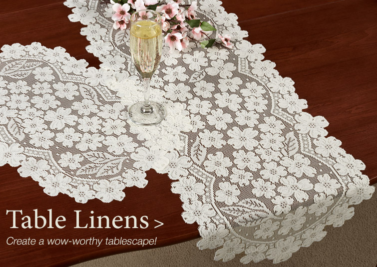 Create a wow-worthy tablescape with our Decorative Table Linens