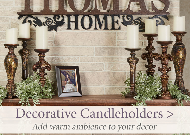 Add warm ambience to your decor with Decorative Candleholders