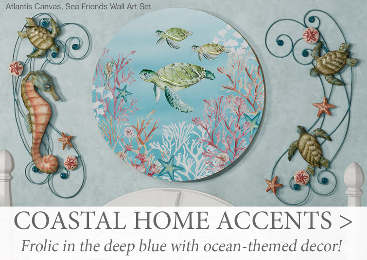 Shop our extensive collection of unique, coastal-themed home accents >