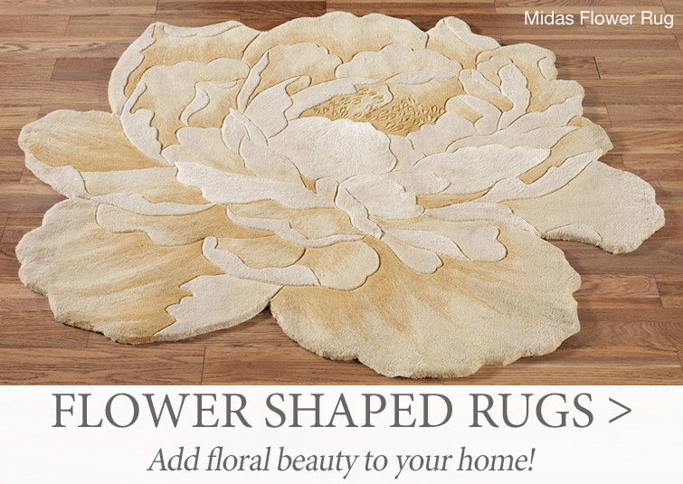 Add floral beauty to your home with Flower Shaped Rugs >