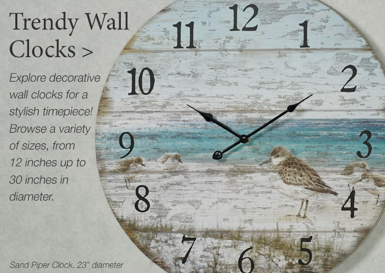 Trendy Wall Clocks