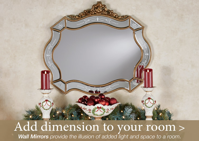 Add extra dimension to a room with a Wall Mirror