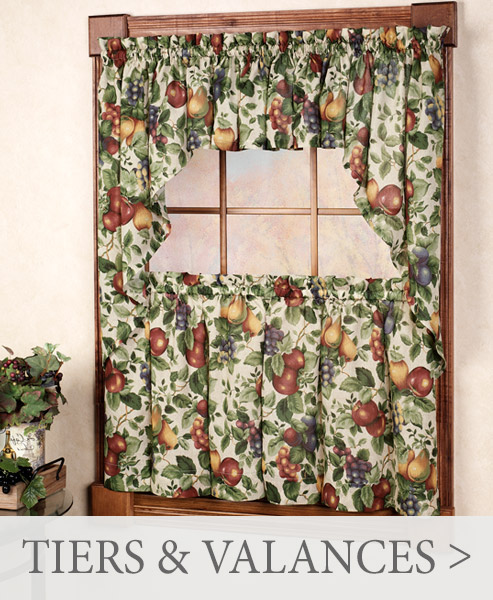 Shop Tier and Valance Window Treatments for your kitchen and bath >