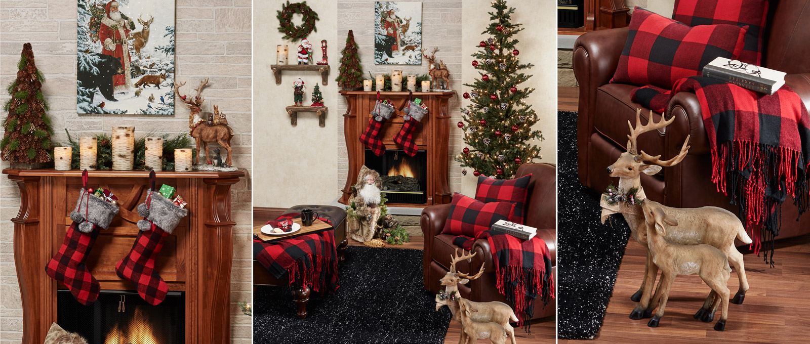 Rustic Buffalo Plaid Living Room