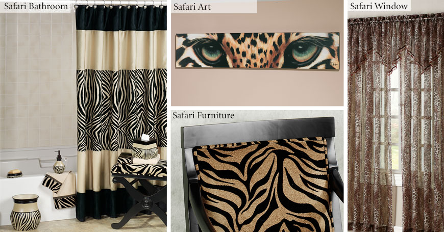 Safari style home decorating and safari decorating tips for Animal themed bathroom decor