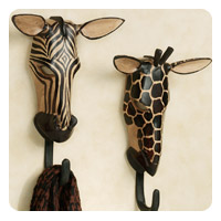 Tribal Mask Wall Hook Set