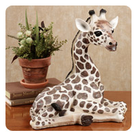 Young Curious Giraffe Sculpture