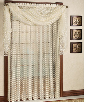 Cascade Lace Window Treatment